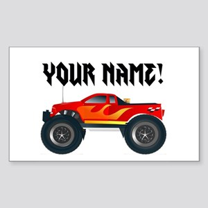 Personalized Monster Truck Sticker (Rectangle)