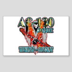 AC-130 Spectre The Night Hides Not Sticker (Rectan