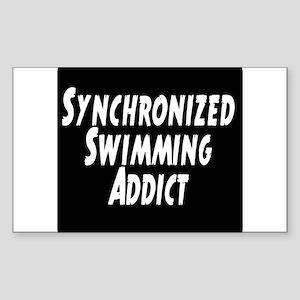 Synchronized Swimming Addict Sticker (Rectangle)