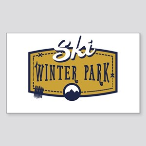 Ski Winter Park Patch Sticker (Rectangle)