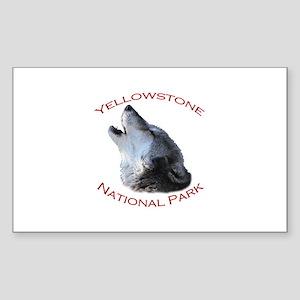 Yellowstone National Park...Wolf Howling Sticker (