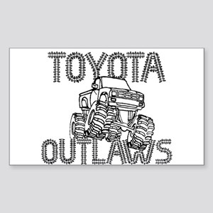Toyota Outlaws Logo Sticker (Rectangle)