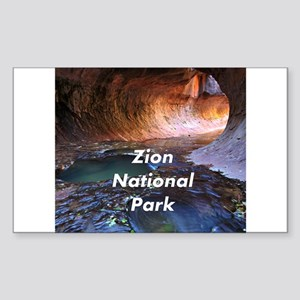 Zion National Park Sticker (Rectangle)