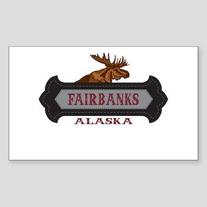 Fairbanks Fleur de Moose Sticker (Rectangle)