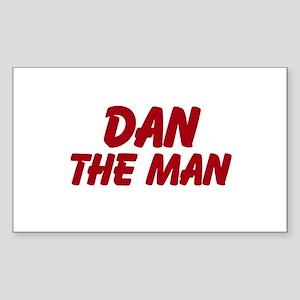 Dan The Man Sticker (Rectangle)