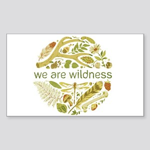 We Are Wildness Art Sticker (Rectangle)