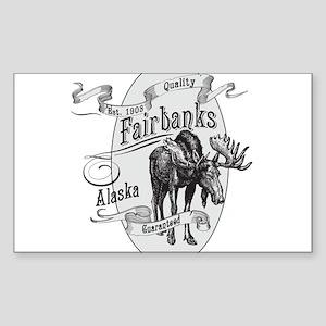 Fairbanks Vintage Moose Sticker (Rectangle)