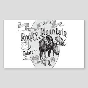 Rocky Mountain Vintage Moose Sticker (Rectangle)