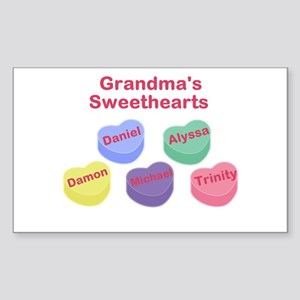 Custom Grand kids sweethearts Sticker (Rectangle)