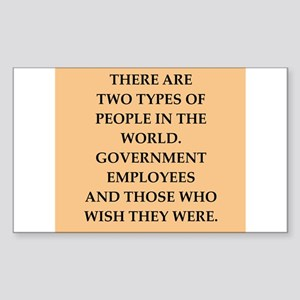 government Sticker (Rectangle)