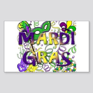 MARDI GRAS Sticker (Rectangle)