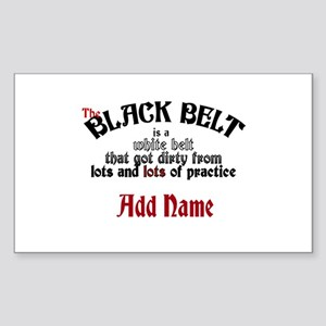 The Black Belt is Sticker (Rectangle)