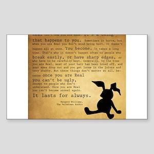 Velveteen Rabbit Print Sticker (Rectangle)
