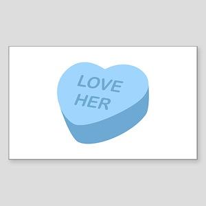 Love Her Candy Heart Sticker