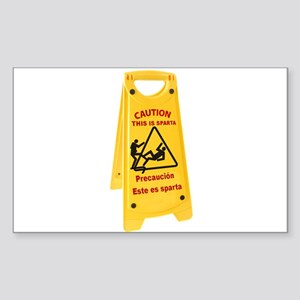 CAUTION THIS IS SPARTA Sticker (Rectangle)