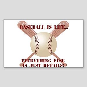 Baseball is Life Rectangle Sticker