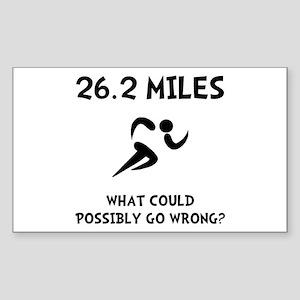 Marathon Go Wrong Sticker