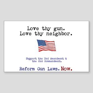 Love thy gun, Love thy neighbor Sticker