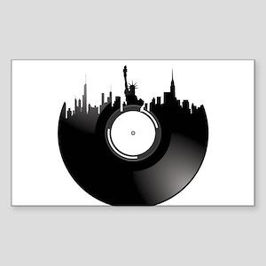New York City Vinyl Record Sticker