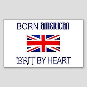 Born American, British by Hea Sticker (Rectangular