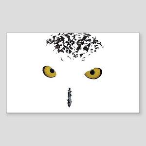 Snowy Owl Sticker (Rectangle)