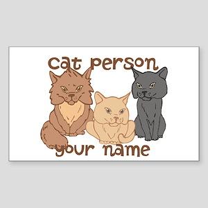 Personalized Cat Person Sticker