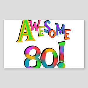 Awesome 80 Birthday Sticker