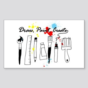 Draw Paint Create (Color) Sticker (Rectangle)