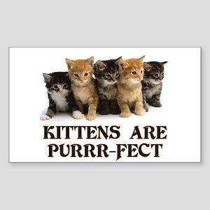 Kittens Are Purr-fect Sticker