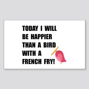 Bird With French Fry Sticker