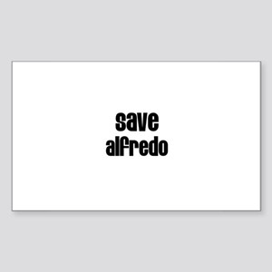 Save Alfredo Rectangle Sticker