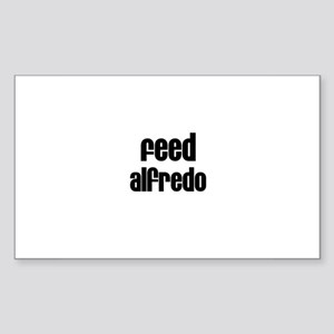 Feed Alfredo Rectangle Sticker