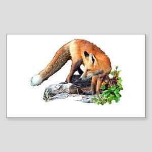 Red fox Sticker (Rectangle)