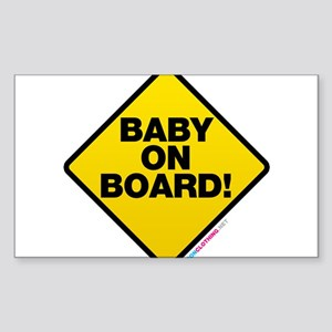 Baby On Board Sticker (Rectangle)