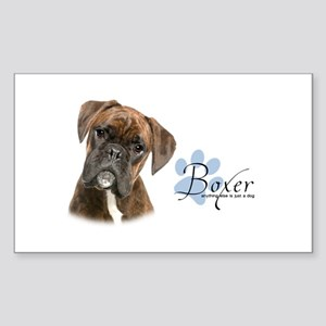 Boxer Puppy Sticker (Rectangle)