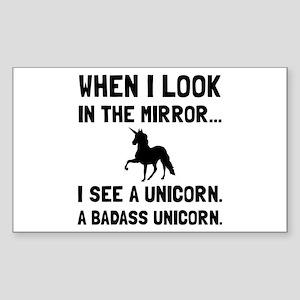 Badass Unicorn Sticker