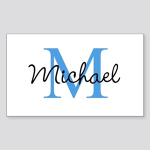 Personalize Iniital, and name Sticker