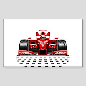 Formula 1 Red Race Car Sticker
