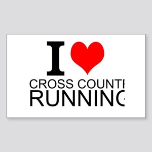 I Love Cross Country Running Sticker