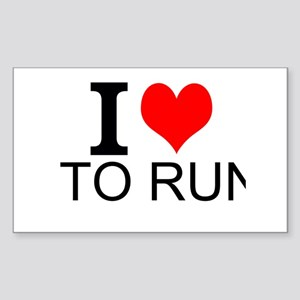 I Love To Run Sticker