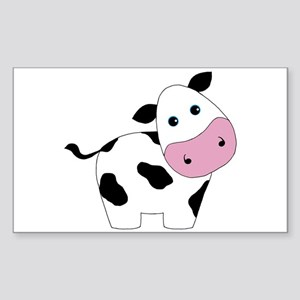 Cute Black and White Cow Sticker