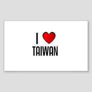 I LOVE TAIWAN Rectangle Sticker