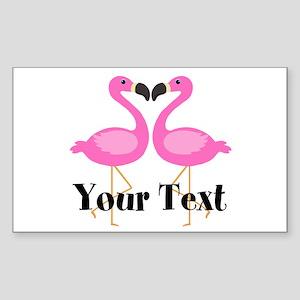 Personalizable Pink Flamingos Sticker