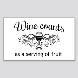 Wine counts as a serving of fruit Sticker