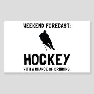 Weekend Forecast Hockey Sticker