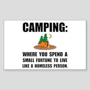 Camping Homeles Sticker