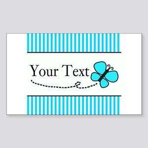 Personalizable Teal Butterfly Sticker