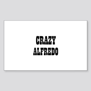 CRAZY ALFREDO Rectangle Sticker