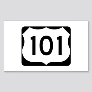 US Route 101 Sticker (Rectangle)