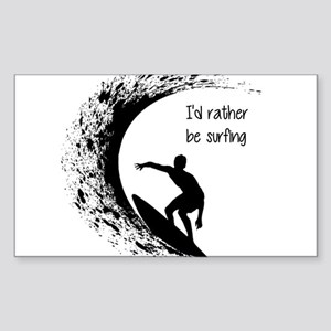 I'd Rather Be Surfing Sticker